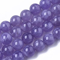 Synthetic Amethyst Beads Strands, Round, 6mm, Hole: 0.8~0.9mm; about 31~32pcs/Strand,  7.28 inches~7.67 inches(18.5cm~19.5cm)