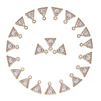 ARRICRAFT About 100 Pcs Cubic Zirconia Alloy Triangle Charms Sets for Jewelry Making Size 11x9x5mm Golden