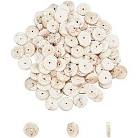 Natural Turquoise Beads Strands, Heishi Beads, Flat Round/Disc, Creamy White, 9~12x2~4mm, Hole: 1mm, about 150pcs/strand, 16.5 inches, 1strand/box