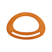 Wooden D Shaped Handles Replacement, for Handmade Bag Handbags Purse Handles, BurlyWood, 12x16.8x0.9mm, Inner Size: 7x11.1cm