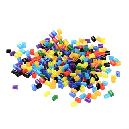 ARRICRAFT 8000pcs Mixed Color Tube Melty Beads PE DIY Fuse Beads Refills Hama Beads for Kids Craft Making 3x2.5mm - Rainbow Theme