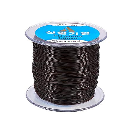 NBEADS A Roll 1mm Conconut Brown Korean Elastic Stretch String Cord Jewelry Making Bracelet Beading Thread (100m/Roll)