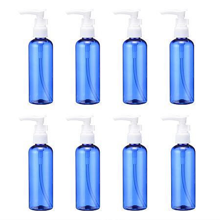 Arricraft 100ML PET Plastic Foaming Soap Dispensers, Empty Pump Bottles for Liquid Soap, Refillable Bottles, Blue, 4x15cm