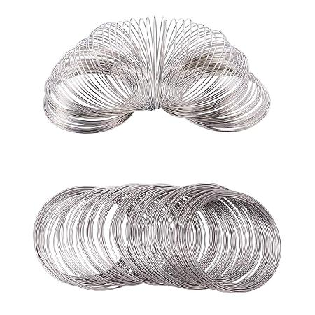 BENECREAT About 300 Loop 20 Gauge Jewelry Wire Silverton Memory Beading Wire for Wire Wrap DIY Jewelry Making - Inner Dia 60m, Thick 0.8mm