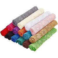 """BENECREAT 15 Rolls 6.3"""" Elastic Lace Ribbon Stretch Lace Trim Fabric for Sewing, Dress Decoration and Gift Wrapping (1 Yard Per Roll)"""