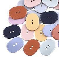 ARRICRAFT 200 pcs Oval 2-Hole Resin Buttons for DIY Sewing Coat Sweater Hat DIY Craft Making, Mixed Colors