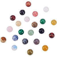 Natural & Synthetic Gemstone Stone Beads, Gemstone Sphere, for Wire Wrapped Pendants Making, No Hole/Undrilled, Round, Mixed Color, 10mm, 100pcs