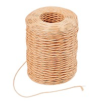 Handmade Iron Wire Paper Rattan, Floral Bind Wire Wrap Twine, for Flower Bouquets, Gift Box, Sandy Brown, 1mm; 210m/roll