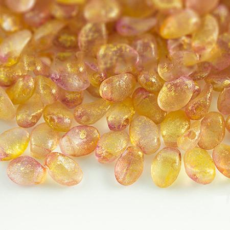 NBEADS Czech Glass Beads, Tulip Petal/Lily Petal, Chocolate, 8.5x6x4mm, Hole: 1mm; about 37pcs/10g