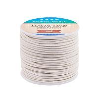 BENECREAT 2mm 55 Yards Elastic Cord Beading Stretch Thread Fabric Crafting Cord for Jewelry Craft Making (WhiteSmoke)
