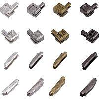 PandaHall Elite 12 Sets Metal Zipper Latch Slider Retainer 3 Color #3#5#8#10 Insertion Pin Zipper Bottom Zipper Stopper for Metal Zipper Repair Zip Sewing Replacement DIY