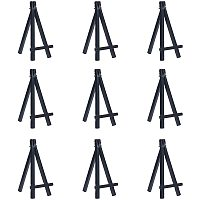 """NBEADS 20 Pcs Mini Black Plastic Display Easel, 6"""" Desk Display Easel Easel Stand for Arts and Crafts DIY Painting Projects"""