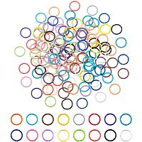 PandaHall Elite 160pcs 10mm Iron Open Jump Rings Jewelry DIY Findings for Choker Necklaces Bracelet Making, 16 Colors