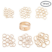 PandaHall Elite About 120 Pcs 304 Stainless Steel Open Jump Rings O Ring Diameter 4-10mm for Jewelry Making Golden