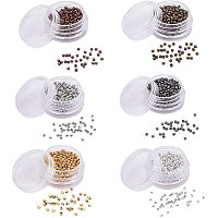 PH PandaHall 6000pcs 6 Color Round Smooth Spacer Beads 2mm Iron Smooth Tiny Metal Beads for Earring, Necklaces, Bracelets Jewelry Making