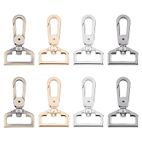 Alloy Swivel Clasps, Bag Replacement Accessories, Mixed Color, 56x33x8mm, Hole: 11x25.5mm, 8pcs/box