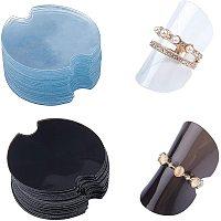 Disc Plastic Ring Displays, Mixed Color, 38.5x0.8mm; 100pcs/bag, 2 colors, 1bag/color, 2bags/set