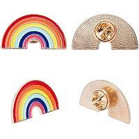 PandaHall Elite 5pcs Rainbow Brooches Enamel Lapel Pin Rainbow Brooch Pins Badges for Clothes Bags Backpacks Jackets Accessory DIY Crafts