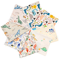 Gorgecraft Printed Animals Cotton Fabric, for Patchwork, Sewing Tissue to Patchwork, Mixed Color, 50x40x0.02cm; 6sheets/set