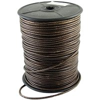PandaHall Elite About 93 Yards/roll 2.3mm Waxed Polyester Cord Korean Waxed Cord Saddle Brown Thread Beading Thread for DIY Jewellery Bracelets Craft Making