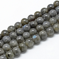 ARRICRAFT Natural Labradorite Beads Strands, Round, 8~9mm, Hole: 1mm, about 45~48pcs/strand, 15.7 inches