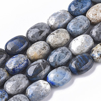 Arricraft Natural Lapis Lazuli Beads Strands, Oval, 14~15x10~11x6~8mm, Hole: 1mm, about 28~29pcs/strand, 16.14 inches(41 cm)