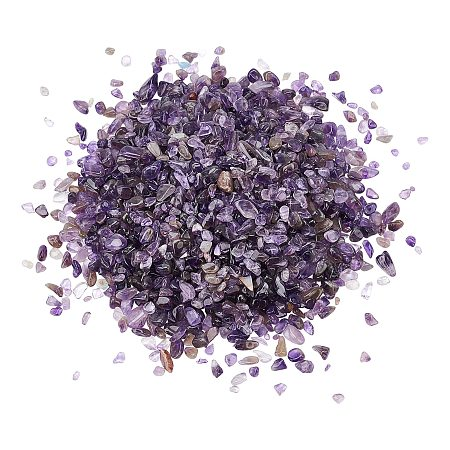 Natural Amethyst Chips Beads, No Hole/Undrilled, 5~8mm, 300g/bag
