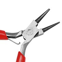 NBEADS 1 Pc Jewelry Pliers 3-Inch Mini Pliers Round Nose Pliers Jewelry Tool for Jewelry Making About 75~80mm Long