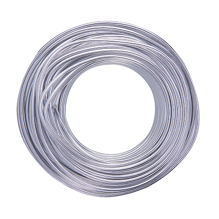 NBEADS 500g Aluminum Wire, Silver, 3.0mm; about 25m/500g
