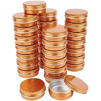 BENECREAT 30 Packs 30ML DarkGold Round Tin Cans Screw Top Aluminum Cans for Storing Spices, Candies, Lip Balm and Party Favor Gifts
