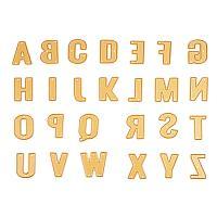 BENECREAT Gold 26 Letter Cutting Dies(A-Z) Cut Metal Scrapbooking Stencils Nesting Die for DIY Embossing Photo Album Decorative DIY Paper Cards Making