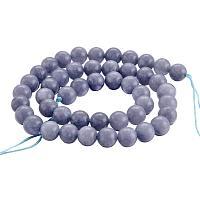 NBEADS 10 Strands Imitation Aquamarine Natural Quartz Beads Gemstone Round Loose Stone Beads for Jewelry Making