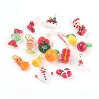 Arricraft Handmade Lampwork Glass Pendants, Mixed Shapes, Mixed Color, 12~35x2~30x2~15mm, Hole: 1~5mm