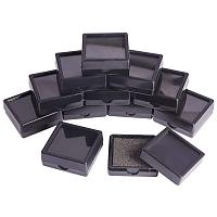 """BENECREAT 24PCS Black Gemstone Display Box Jewelry Box Container with Clear Top Lids, 1.57"""" x 0.6"""", for Gems, Coins and Jewelry"""