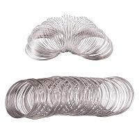 BENECREAT About 300 Loop 20 Gauge Jewelry Wire Silverton Memory Beading Wire for Wire Wrap DIY Jewelry Making - Inner Dia 55m, Thick 0.8mm