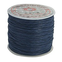 ARRICRAFT 10 Rolls 1mm Waxed Cotton Cord Beading Thread Braided String 25m per Roll for Jewelry Crafting Supplies Deep Blue