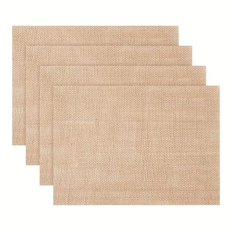 PandaHall Elite 10 Pack Linen Burlap Placemat Table Pad Rustic Table Runner Placemat for BBQ Holidays Wedding Party Decor Farmhouse Kitchen, 8x11inch