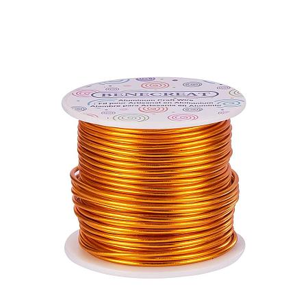 BENECREAT 12 Gauge Aluminum Wire Length 100FT Anodized Jewelry Craft Making Beading Floral Colored Aluminum Craft Wire - Gold
