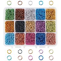 PH PandaHall 6450pcs 6mm Aluminum Jump Rings 15 Color Open Jump Rings for Choker Necklaces Bracelet Chain Maille  Jewelry Making
