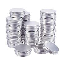 BENECREAT 30 Pack 1 OZ Tin Cans Screw Top Round Aluminum Cans Screw Lid Containers - Great for Store Spices, Candies, Tea or Gift Giving (Platinum)