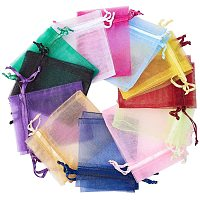 """Arricraft 160pcs 20 Color Organza Gift Bags with Drawstring, Party Favor Organza Bags for Jewelry Candy Party Wedding Favor Pouches, 2.8""""x3.6""""(7x9cm)"""
