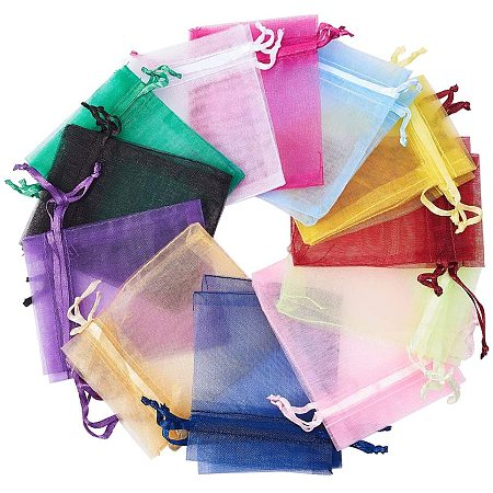 Arricraft 160pcs 20 Color Organza Gift Bags with Drawstring, Party Favor Organza Bags for Jewelry Candy Party Wedding Favor Pouches, 2.8
