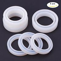 PandaHall Elite 6 Pcs Silicone Mold Mold Round Resin Curve Bangle Bracelet Diameter 56-62mm for DIY Jewelry Making