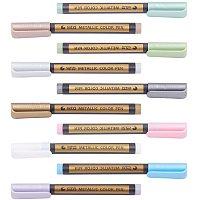 PH PandaHall 10pcs Wax Seal Pen Kit Paint Marker Pens Medium Point Metallic Markers for Wax Stamp Sealing, Card Making, Rock Painting, DIY Photo Album, Scrapbook Crafts, Metal, Wood, Ceramic, Glass