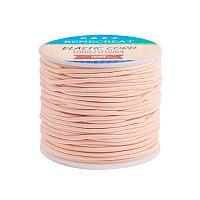 BENECREAT 2mm 55 Yards Elastic Cord Beading Stretch Thread Fabric Crafting Cord for Jewelry Craft Making (PeachPuff)