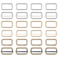 NBEADS 36 Pcs Iron Adjuster Slides Buckles, 3 Colors Roller Pin Buckles Slider Strap Adjuster with Buckle Clasps for Belt Bags DIY Accessories