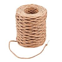 PandaHall Elite 1 Roll Brown Floral Bind Wire Wrap Twine 12 Gauge Paper Covered Rustic Vine 164 Feet for Art Craft Flower Bouquets
