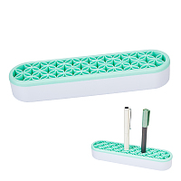 Gorgecraft Portable Silicone Makeup Brush Holder, Cosmetic Organize, Green, 21x5.1x3.4cm