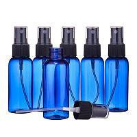 BENECREAT 20 Pack 1.7oz/50ml Blue Plastic Spray Bottle Fine Mist Spray Bottle for Essential Oil Perfume and Lotion Liquid