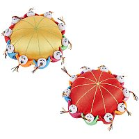 NBEADS 2 Pcs 2 Colors Oriental Cloth Needle Pin Cushion, 10.5cm Round Fully Paded Wrist Sewing Cross Stitch Needle Cushion for Needle Storage